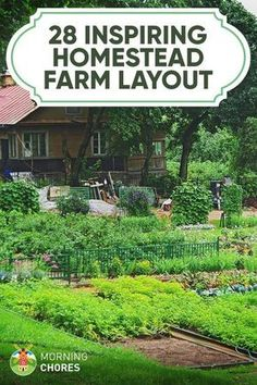 Garden Planning 28 Farm Layout Design Ideas to Inspire Your Homestead Dream - Are you not sure if you can make homesteading work with the amount of land you have? Here are 28 farm layout design ideas to inspire you. Homestead Layout, Homestead Farm, Homestead Gardens, Homestead Survival, Farm Gardens, Homestead Property, Front Gardens, The Farm, Mini Farm