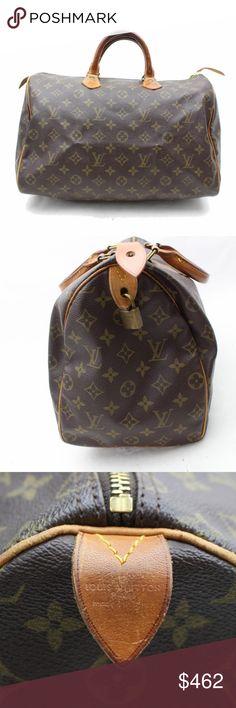 8d4a0db4b9c95 Louis Vuitton Speedy 35 M41524 Mono HandBag 11032 (Outside Flaws) rubs on  the leather