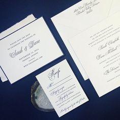 Classy navy blue invitations #blue #navy #invitations #bespoke #custom #fourteenforty #stationery #wedding #weddingstationery