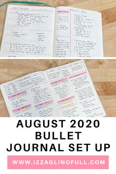 Today I'm sharing with you my August 2020 Bullet Journal Set Up. If you want to see how I set up my bullet journal for 2020, click here. Since 2018, I've kept my bullet journal set minimalist. I started keeping my bujo as functional as possible, keeping only the basics layout. Which in turn leveled up my productivity. Hooray! I thought for 2020, I will start publishing my monthly bullet journal layout again. You can follow me on Instagram to see more of my bujo set ups. Monthly Bullet Journal Layout, Bullet Journal Set Up, Bullet Journal Ideas Pages, Bullet Journal Inspiration, Monthly Review, Saved Pages, Daily Page, Life Savers, Keep In Mind