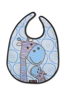 Bavoir Baby Girafe bleu - Tris & Ton