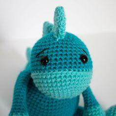 Free Crochet Dinosaur Pattern- The Friendly Dino - The Friendly Red Fox