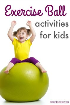 Physical Activities for Kids Using an Exercise Ball The Inspired Treehouse - These fun physical activities for kids require only two simple things - a therapy ball and some space to play! Vestibular Activities, Physical Activities For Kids, Movement Activities, Gross Motor Activities, Therapy Activities, Dementia Activities, Sensory Therapy, Elderly Activities, Craft Activities