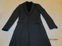 £325 All Saints Cannon coat - 36 SMALL (XS) - charcoal wool mod vintage £72.00