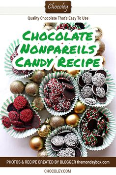 This chocolate nonpareils candy recipe is so simple and easy to make. You only need two ingredients to make this easy chocolate nonpariels candy. Chocolate Sweets, Best Chocolate, How To Make Chocolate, Chocolate Recipes, Chocolate Cheesecake, Christmas Chocolate, Christmas Candy, Christmas Snacks, Christmas Recipes