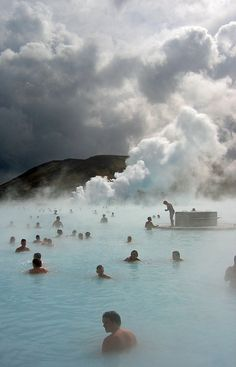 The Blue Lagoon Iceland by Davekpcv