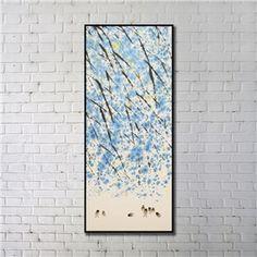 """Art contemporain Peinture numérique abstraite de pulvérisation+Peints à la main cadre noir Taille20""""X48"""""""
