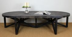 Nero coffee table.  The aged black finish is the perfect colour scheme for winter creating a warm rustic look.