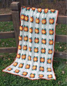 Maggie's Crochet · Marigold Afghan Pattern #crochet #afghan #pattern #flower…