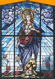"""The new women's empowerment video """"Woman's World"""" finds the successful 67 year-old shape shifting into women of various ages, races and. Saint Elizabeth Of Hungary, San Francisco, Patron Saints, Sacred Art, Stained Glass Windows, Catholic, Glass Art, Spirituality, Antiques"""