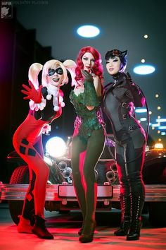 Gotham's Sirens [Cosplay Picture Gallery] Dc Cosplay, Cosplay Outfits, Best Cosplay, Cosplay Girls, Catwoman Cosplay, Cute Group Halloween Costumes, Looks Halloween, Halloween Cosplay, Adult Costumes