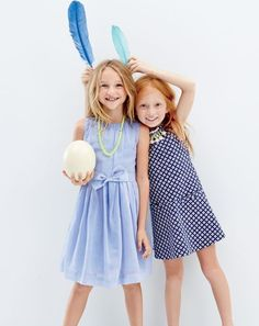 FEB Style Guide: J.Crew girls organdy bow dress, two-tone bead necklace, and pom-pom necklace dress. Tween Fashion, Young Fashion, Little Girl Fashion, Fade Styles, Cute Photography, Girl Outfits, Fashion Outfits, Tween Girls, Dress With Bow