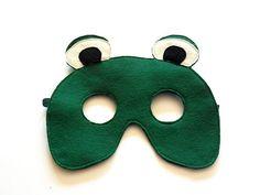 Frog Felt Children Mask Kids Mask Halloween Costume by BHBKidstyle