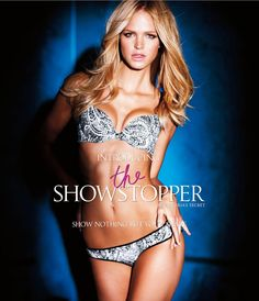 "(Erin Heatherton) Victoria's Secret ""The Showstopper"" Collection  Show Stoppers – Adriana Lima, Candice Swanepoel and Erin Heatherton show off a new range of bras designed to show off nothing but shape with Victoria's Secret's ""The Showstopper"" collection. Wearing vamped up hair and makeup, the smoldering ..."