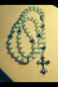 Glass Rosary $50