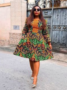 Simple and Stylish Ankara Gowns You Should Try Out Ankara Short Gown Styles, Ankara Gowns, Short Gowns, Ankara Fabric, Unique Dresses, Summer Dresses, Stylish, Simple, Pretty