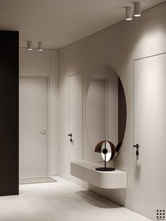 DGLN Interior Design is a project by Roman Kot and Andrus Bezdar made for ZROBYM architects based in Minsk, Belarus. Interior Desing, Modern Interior, Interior Inspiration, Interior Architecture, Lobby Interior, Minimalist Interior, Minimalist Home, Design Scandinavian, Minimalist Decor