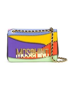 Comprar Moschino bolso bandolera con paneles y logo en Al Ostoura from the world's best independent boutiques at farfetch.com. Shop 300 boutiques at one address.