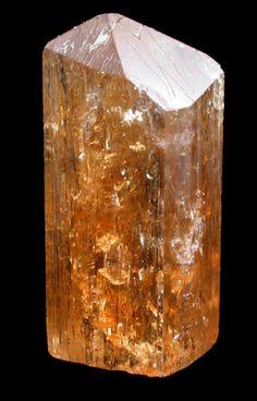Topaz var. Imperial from Ouro Preto, Minas Gerais, Brazil