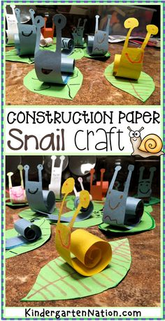 An Easy Snail Craft for Kids with a FREE Printable Template! - An Easy Snail Craft for Kids with a FREE Printable Template! Kindergarten Art Projects, Spring Crafts For Kids, St Patrick's Day Crafts, Paper Crafts For Kids, Summer Crafts, Fun Crafts, Art For Kids, Party Crafts, Diy Paper