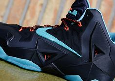 Nike LeBron 11- Black, Diffused Jade, Light Crimson, and Jade Glaze