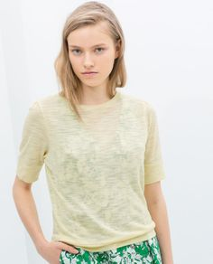 Image 4 of PUFF-BALL T-SHIRT from Zara