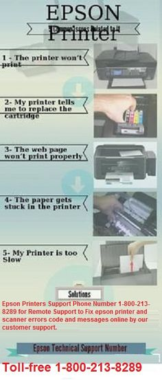 Epson Printers Support Phone Number 1-800-213-8289 for Remote Support to Fix epson printer and scanner errors code and messages online by our customer support.