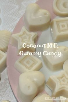 Delicious and healthy Coconut Milk Gummy Candy that is Paleo, SCD, GAPS and AIP diet compatible. Scd Recipes, Sweet Recipes, Real Food Recipes, Healthy Recipes, Gelatin Recipes, Candy Recipes, Milk Candy Recipe, Cooking With Coconut Milk, Cooking Rice