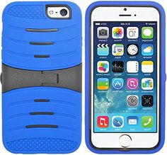 """myLife Azure Blue {Durable with Kickstand Design} 3 Layer FLEX Hybrid Case for the NEW iPhone 6 (6G) 6th Generation Phone by Apple, 4.7"""" Screen Version (Two Piece Internal Fitted Hard Protector Snap Shell + Full Body External Silicone EASY-Grip Bumper Gel Protection) myLife Brand Products http://www.amazon.com/dp/B00NP8107G/ref=cm_sw_r_pi_dp_1tNtub0P6W7SR"""