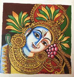 Ardhanarishvara - padmaja-arts Kerala Mural Painting, Painting & Drawing, Hand Drawing Reference, Terracotta Jewellery Designs, Shiva Shakti, Hindu Art, Art Drawings Sketches, Indian Paintings, Ganesh