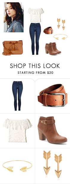 """Allison Argent Outfit"" by zoegeorgiou2001 on Polyvore featuring Topshop, Hollister Co., LC Lauren Conrad, Lord & Taylor, Journee Collection and Kate Spade"