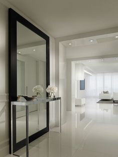 large hallway ideas hall contemporary with full length mirror contemporary floor. large hallway ideas hall contemporary with full length mirror contemporary floor mirrors Hall Mirrors, Hallway Mirror, Living Room Mirrors, Full Length Mirror Hallway, Dark Hallway, Full Length Mirror Living Room, Large Bedroom Mirror, Dream Home Design, Home Interior Design