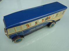 Chad Valley Tinplate Motor Bus / Coach 1950's Scarce One !! Not Mettoy Wells !! | eBay