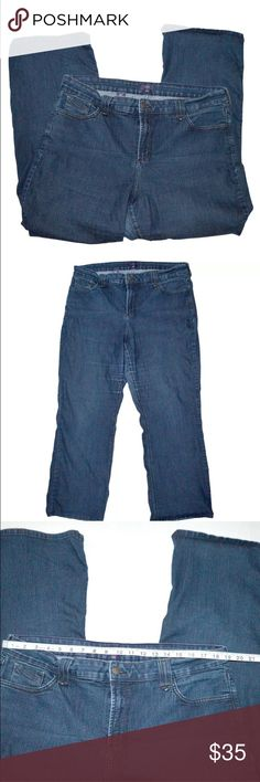 """NOT YOUR DAUGHTERS JEANS NYDJ Boot Cut Stretch NOT YOUR DAUGHTERS JEANS NYDJ 18 W Med Wash Boot Cut Stretch Denim Jeans 29 18W 29"""" Inseam Gently worn, please review all photos for the exact item you will receive. Not Your Daughters Jeans Jeans Boot Cut"""