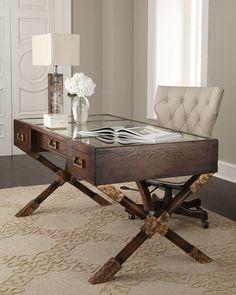John-Richard Collection Paige Desk - Neiman Marcus