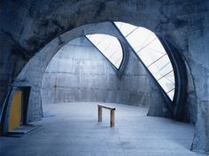 The Steinkirche (rock-church) | Cazis, Graubünden, Switzerland |  architect Werner Schmidt