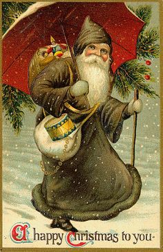 A Happy Christmas to You Vintage Christmas/Santa Claus Postcard Vintage Christmas Images, Christmas Past, Victorian Christmas, Father Christmas, Christmas Postcards, Primitive Christmas, Country Christmas, Outdoor Christmas, Christmas Christmas