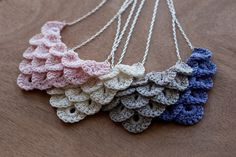 Dainty Loops — More Crocodile Necklaces!