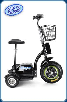 The MotoTec 500w Electric Trike is a three-wheeled #Segway alternative at a fraction of the cost. #electricscooters #mototec