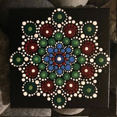 For sale is a hand-painted Mandala on a canvas. Painted with high-quality acrylic paints, with a gloss acrylic finish for protection. Colors in this Mandala are Blue, Green & PInk. Mandala Art, Mandala Canvas, Mandala Painting, Mandala Pattern, Mandala Design, Mandala Doodle, Mandala Painted Rocks, Painted Rocks Kids, Mandala Rocks