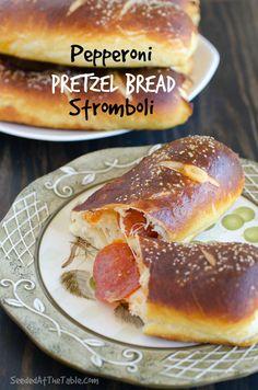 Pepperoni Pretzel Bread Stromboli by SeededAtTheTable.com @Seeded at the Table | Nikki Gladd