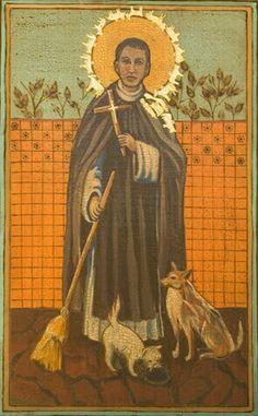 St. Martin de Porres Feast day November 3rd, art by Marilyn Moyes
