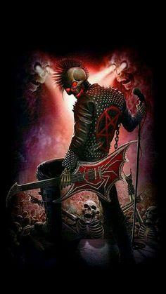 Arte Heavy Metal, Heavy Metal Music, Heavy Metal Bands, Arte Punk, Punk Art, Grim Reaper Art, Totenkopf Tattoo, Punk Poster, Gothic Fantasy Art