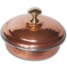 Vajilla vajillas cobre Tigela con tapa diámetro 22,85 Cms: Amazon.es: Hogar