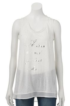 A dream is a wish your heart makes.  Disney's Cinderella a Collection by LC Lauren Conrad Foil Graphic Tank at Kohl's