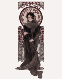 inspired by this faith of the seven post, arya as the stranger - i wanted to do this kind of like a tarot card with alphonse mucha feelings but i got lazy with the details wehh i might do the others idk~~
