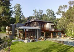 World of #Architecture: Modern dream #home design for Mandeville Canyon #Residence