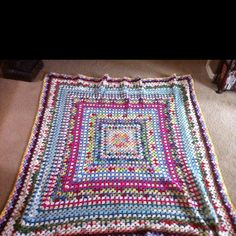 My beautiful granny square blanket
