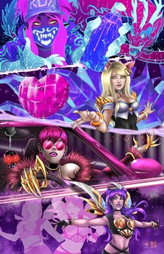 ads ads Keep Your Eyes On Me Now © Tyrine Carver and Wil Woods of Musetap Studios K/Da's amazing music video Pop/Stars paired with League… Lol League Of Legends, Evelynn League Of Legends, Akali League Of Legends, League Of Legends Characters, Fanart, Ahri Wallpaper, Game Character, Character Design, Ahri Lol