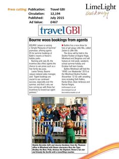 Bourne woos bookings from agents - Travel GBI - July 2015